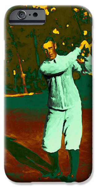 Nike iPhone Cases - The Golfer - 20130208 iPhone Case by Wingsdomain Art and Photography