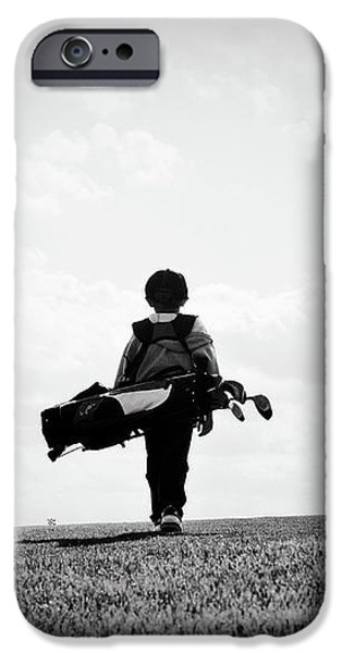 The Golfer iPhone Case by SHAWN WOOD