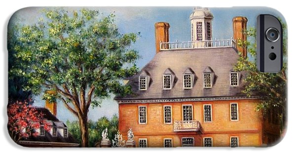 Yorktown Virginia iPhone Cases - The Governors Palace iPhone Case by Gulay Berryman