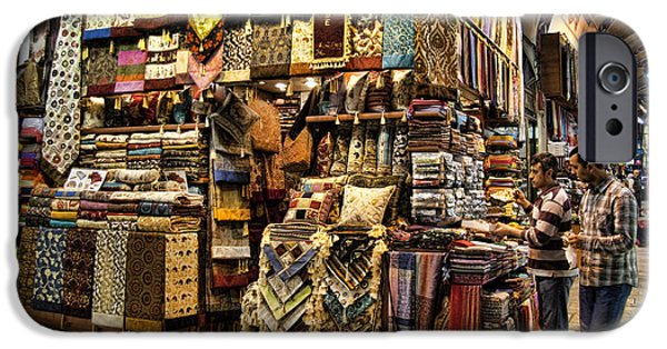 Historic Site iPhone Cases - The Grand Bazaar in Istanbul Turkey iPhone Case by David Smith