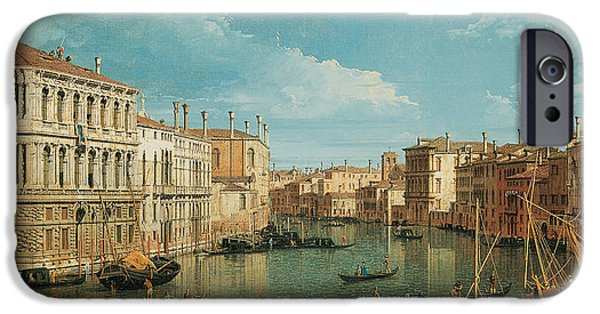 Venetian Canals iPhone Cases - The Grand Canal iPhone Case by Canaletto