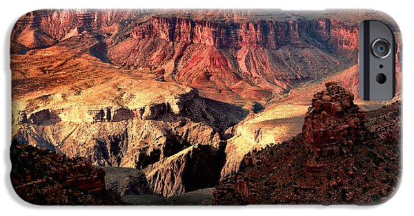 Grand Canyon Digital iPhone Cases - The Grand Canyon I iPhone Case by Tom Prendergast
