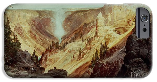 River iPhone Cases - The Grand Canyon of the Yellowstone iPhone Case by Thomas Moran