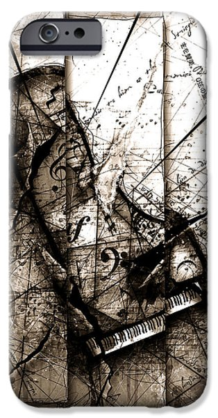 Piano iPhone Cases - Requiem iPhone Case by Gary Bodnar