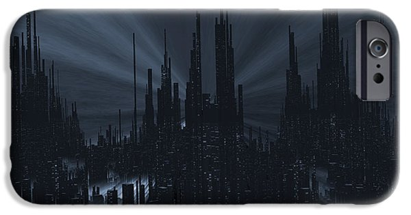 Eerie iPhone Cases - The Grand Metropolis iPhone Case by Nafergo