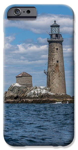 New England Lighthouse iPhone Cases - The Graves Lighthouse iPhone Case by Brian MacLean