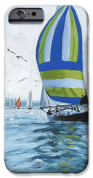 The Great Race 06 iPhone Case by Laura Lee Zanghetti