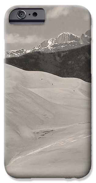 The Great Sand Dunes  BW Sepia iPhone Case by James BO  Insogna