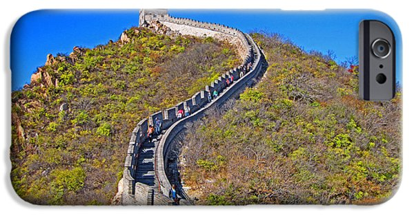 Figure iPhone Cases - The great wall of China. iPhone Case by Andy Za