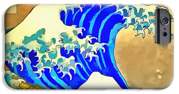 The Great iPhone Cases - The Great Wave off Kanagawa 2.0 Square iPhone Case by Edward Fielding