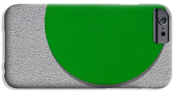 Furniture iPhone Cases - The Green Dot iPhone Case by Wayne Wood