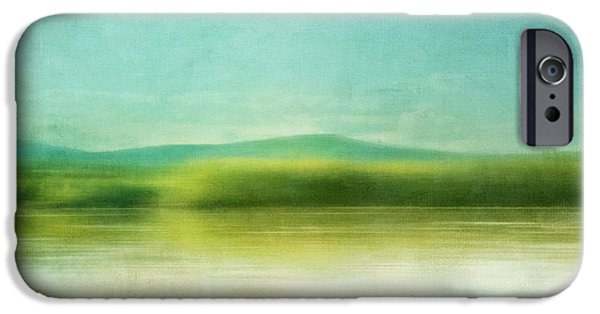 Abstractions iPhone Cases - The Green Haze iPhone Case by Priska Wettstein