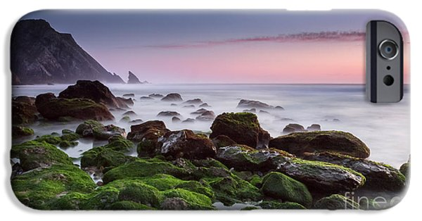 Ocean Sunset iPhone Cases - The green way to... iPhone Case by Henrique Silva