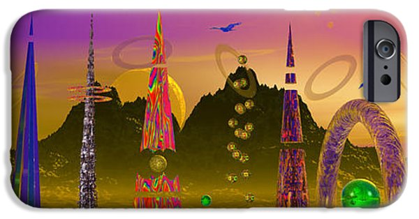 Moonscape iPhone Cases - The Groinjes Of Grernjez Powered iPhone Case by Mark Blauhoefer