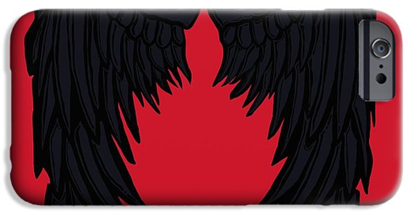 Crows iPhone Cases - The Guardian iPhone Case by Frances Lewis