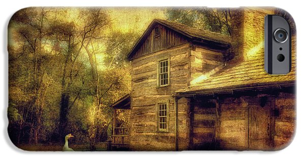 Cabin Window Digital iPhone Cases - The Guardian iPhone Case by Lois Bryan