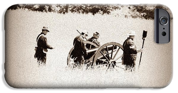 Gettysburg Digital iPhone Cases - The Guns of Gettysburg iPhone Case by Bill Cannon