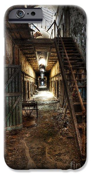 Lee Dos Santos iPhone Cases - The Hallway of Broken Dreams - Eastern State Penitentiary - Lee Dos Santos iPhone Case by Lee Dos Santos