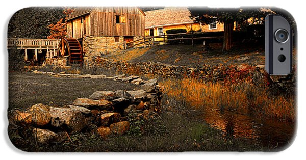 Old Mill Scenes iPhone Cases - The Hammond Gristmill iPhone Case by Lourry Legarde