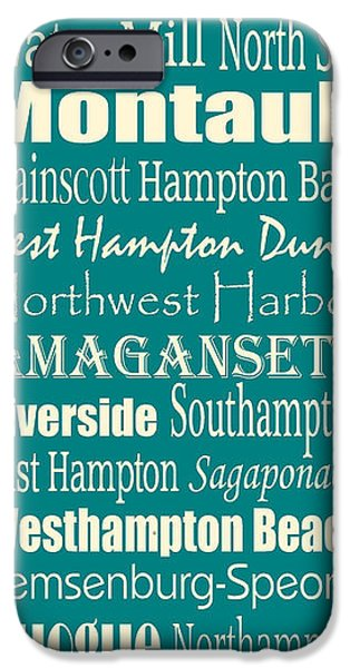 East Village Digital iPhone Cases - The Hamptons iPhone Case by Trudy Clementine