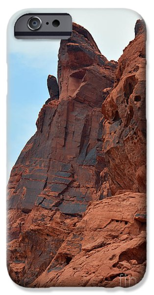 Red Rock Tapestries - Textiles iPhone Cases - The Hand iPhone Case by Edna Weber