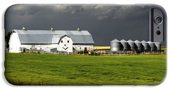 Agricultural iPhone Cases - The Happy Barn iPhone Case by Bob Christopher