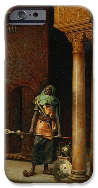 Harem iPhone Cases - The Harem Guard  iPhone Case by Ludwig Deutsch