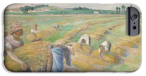 Laborers iPhone Cases - The Harvest iPhone Case by Camille Pissarro