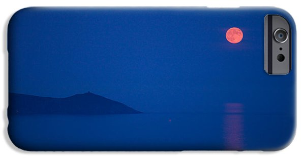 Moonscape iPhone Cases - The Harvest Moon iPhone Case by Mark Egerton