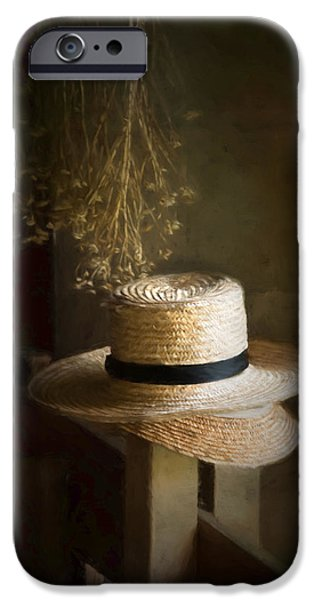 Floral Photographs iPhone Cases - The Harvesters hat iPhone Case by Robin-lee Vieira