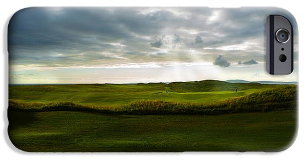 Golf Green iPhone Cases - The Heavenly Game iPhone Case by Diane Diederich