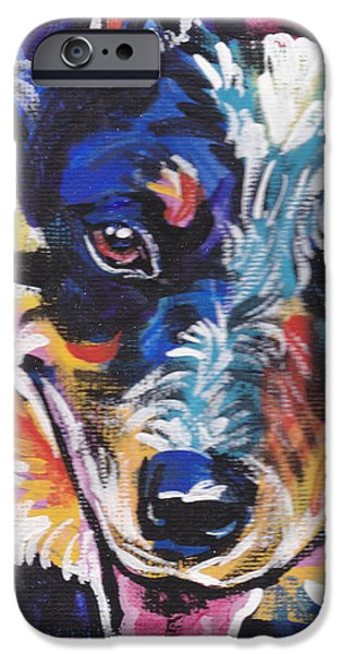 Cattle Dog iPhone Cases - The Heeler iPhone Case by Lea