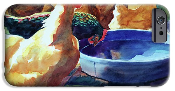 Minnesota iPhone Cases - The Henhouse Watering Hole iPhone Case by Kathy Braud
