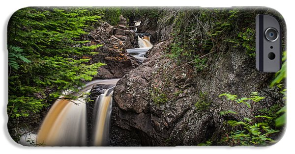 Tree Art Print iPhone Cases - The Hidden Falls of Cascade River iPhone Case by Bill Bucu