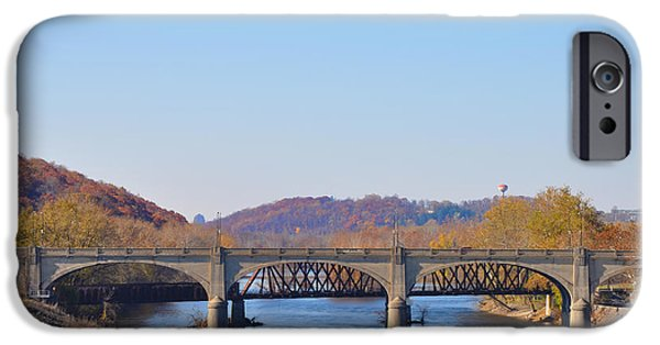 The Hills iPhone Cases - The Hill to Hill Bridge - Bethlehem Pa iPhone Case by Bill Cannon