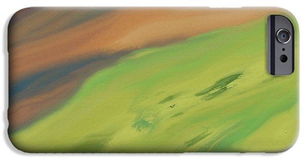 Abstract Expressionist iPhone Cases - The Hillside iPhone Case by Lenore Senior