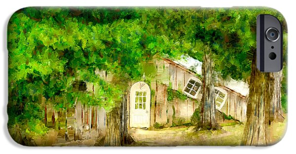 Buildings Mixed Media iPhone Cases - The Hobbits Habitat iPhone Case by Diana Ralph