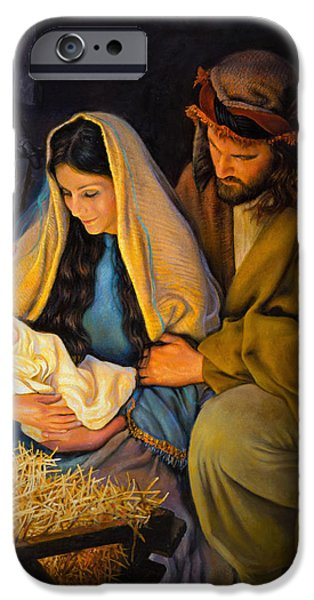Baby Jesus iPhone Cases - The Holy Family iPhone Case by Greg Olsen