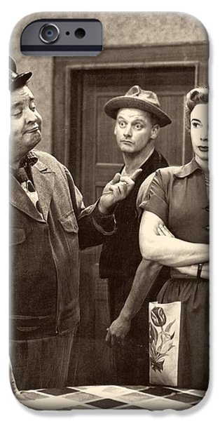 1950s Portraits iPhone Cases - The Honeymooners iPhone Case by Cbs