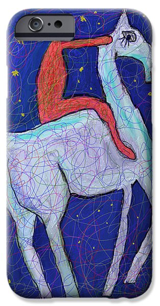 Symbol Of The Soul iPhone Cases - The Horse Boy iPhone Case by Ian Roz