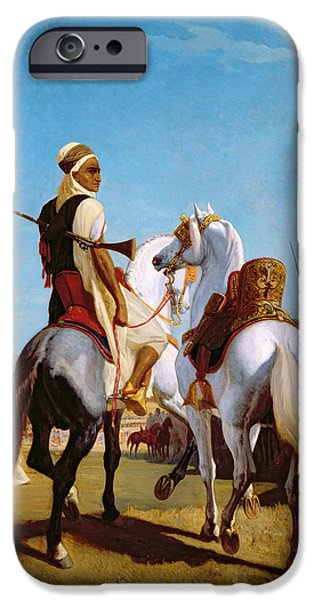 The Horse iPhone Cases - The Horse of Submission iPhone Case by Louis Eugene Ginain
