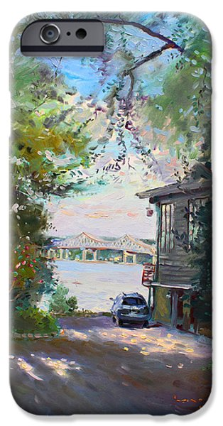 Hudson River iPhone Cases - The House by the River iPhone Case by Ylli Haruni