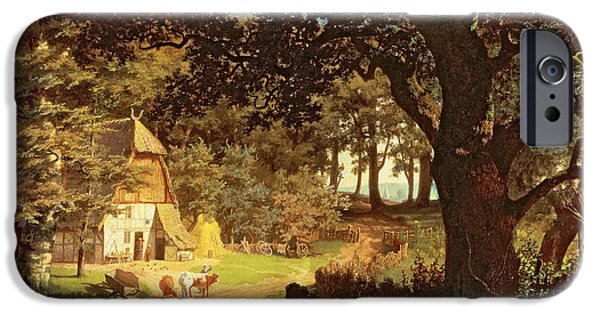 Forest iPhone Cases - The House in the Woods iPhone Case by Albert Bierstadt