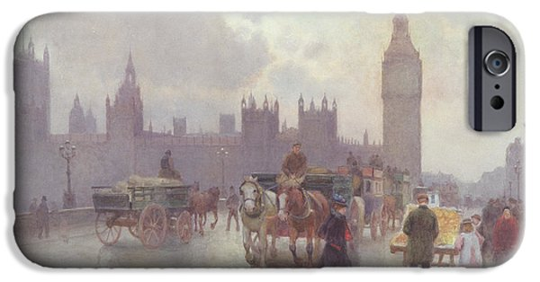 The Houses iPhone Cases - The Houses of Parliament from Westminster Bridge iPhone Case by Alberto Pisa