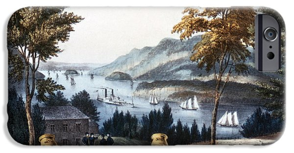 Hudson River iPhone Cases - The Hudson From West Point iPhone Case by Photo Researchers