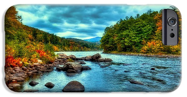 Hudson River iPhone Cases - The Hudson River in the Fall iPhone Case by David Patterson