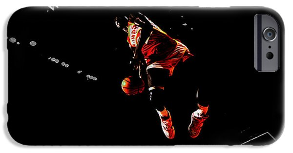 Dunk Mixed Media iPhone Cases - The Human Highlight Film iPhone Case by Brian Reaves