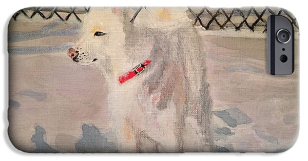 Huskies iPhone Cases - The Husky iPhone Case by Danielle Allard