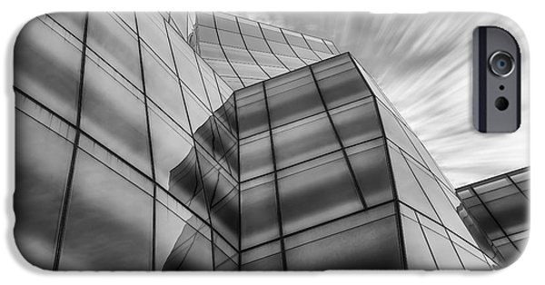 Manhattan iPhone Cases - The IAC Building BW iPhone Case by Susan Candelario