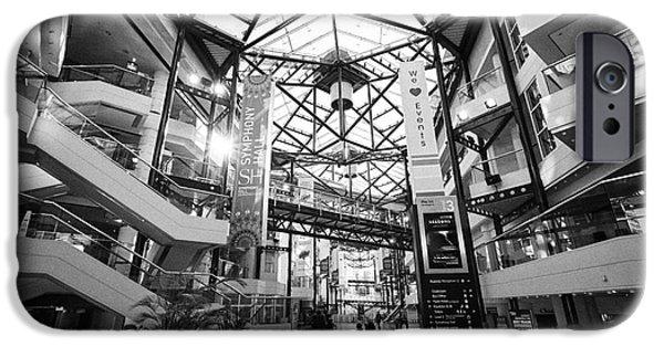 Symphony Hall iPhone Cases - The ICC and symphony hall interior atrium Birmingham UK iPhone Case by Joe Fox